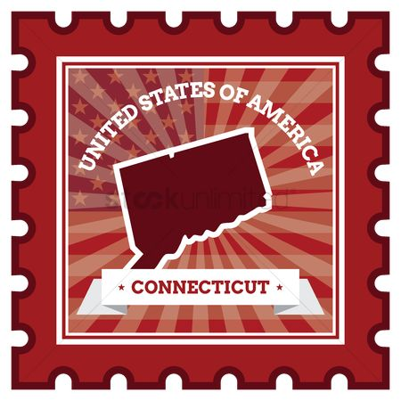 Connecticut : Connecticut postage stamp