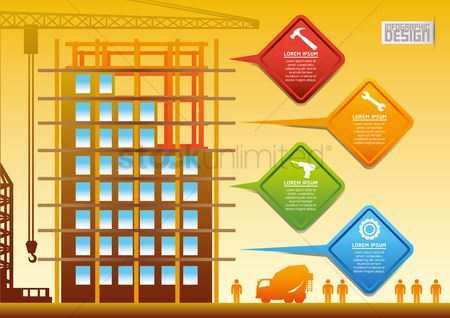 Workers : Construction infographic