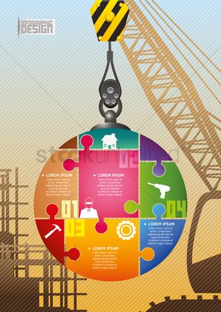 Jigsaw : Construction infographic