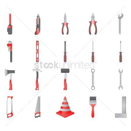 Hardwares : Construction tools icons