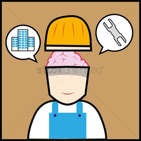 Contractor : Construction worker with ideas