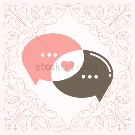 Love speech bubble : Conversation