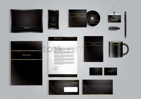 Text space : Corporate identity elements