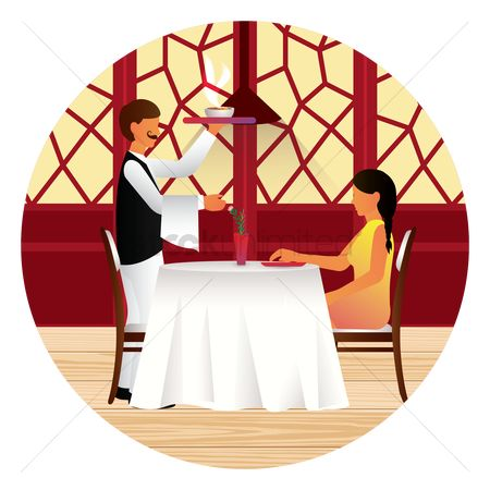 Servings : Couple dining together in a restaurant