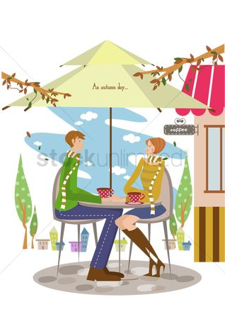 Tents : Couple having coffee at a coffee shop