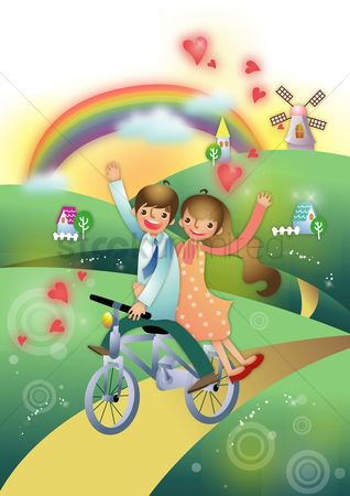 Stories : Couple on a bicycle