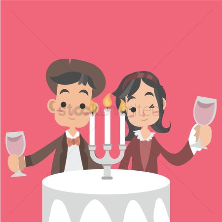 Dine : Couple wining and dining