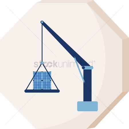 Shifting : Crane lifting a box