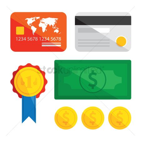 Currencies : Credit card and money