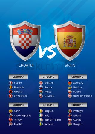 Belgium : Croatia vs spain