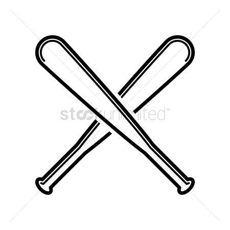 Free Crossed Baseball Bat Stock Vectors StockUnlimited