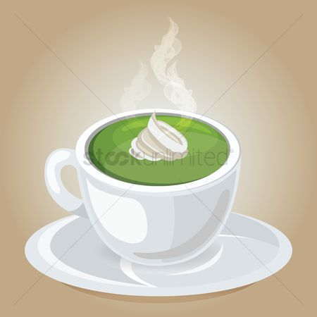Topping : Cup of green tea latte