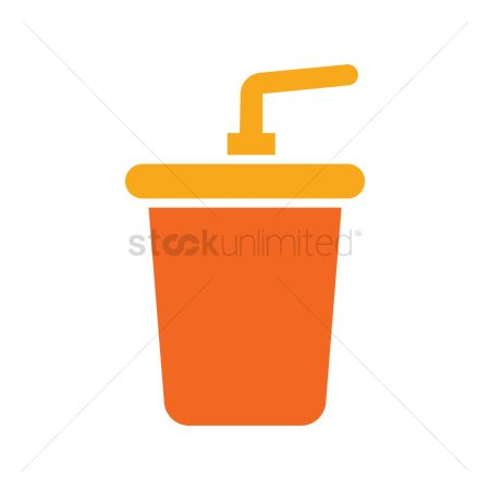 Sodas : Cup with straw icon