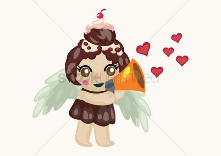 Proposal : Cupcake fairy proposing with megaphone