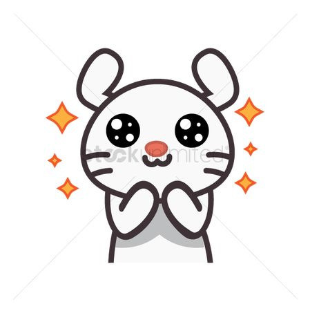 Sparkle : Cute rabbit feeling excited