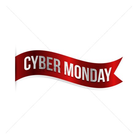 Terms : Cyber monday banner label