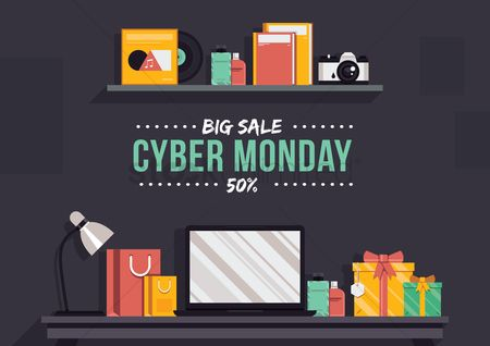 Shopping : Cyber monday big sale wallpaper