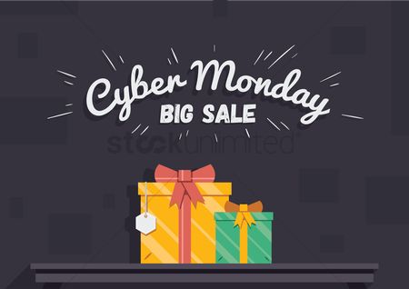 Shopping background : Cyber monday big sale wallpaper