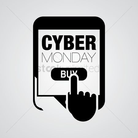 E commerces : Cyber monday design element
