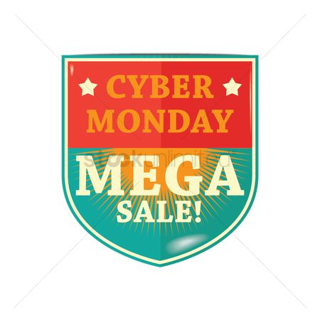 Terms : Cyber monday mega sale label