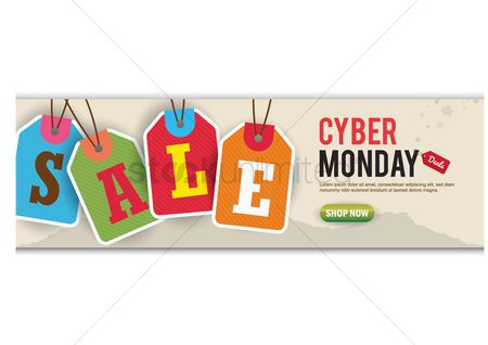 Shops : Cyber monday sale banner
