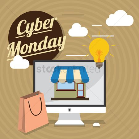 Awning : Cyber monday sale design