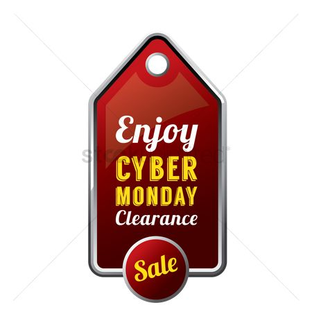 Enjoy clearance : Cyber monday sale tag