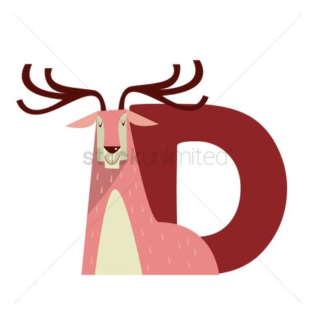 free letter animals d stock vectors stockunlimited