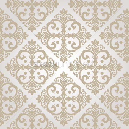 Royal : Damask vintage white pattern
