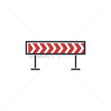 Barrier : Dangerous turn road sign