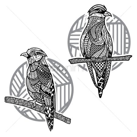 Patterns : Decorative bird designs
