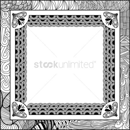 Sketching : Decorative frame
