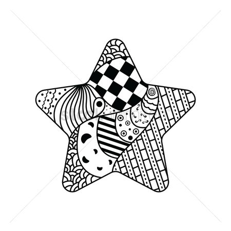 Hand drawn : Decorative star design