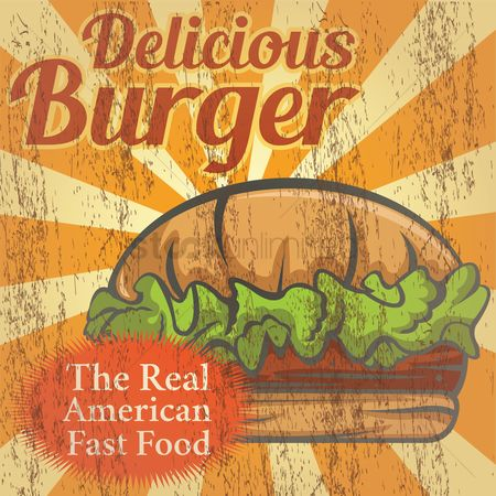 Fast food : Delicious burger
