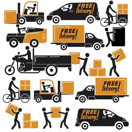 Lorries : Delivery icons
