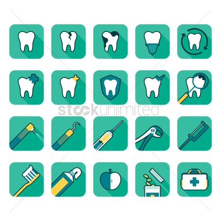 Medicines : Dental icons