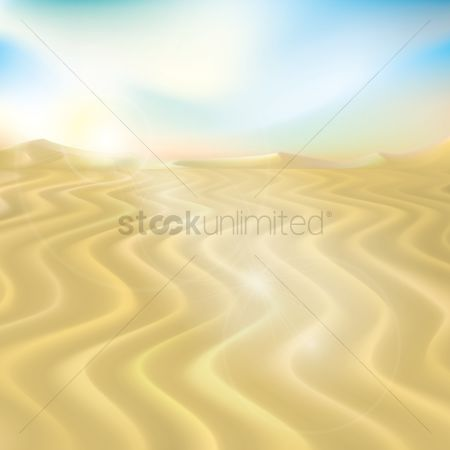 Sunray : Desert background