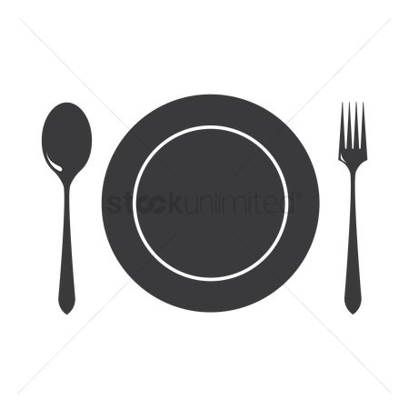 Dinner : Dinner plate with cutlery