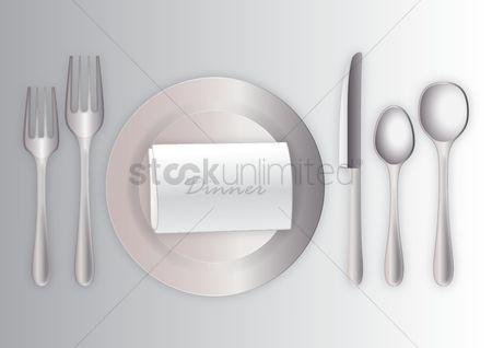 Dinner : Dinner table setting