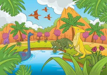 Mountains : Dinosaurs in prehistoric time