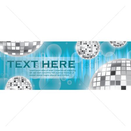 Dj : Disco banner with text