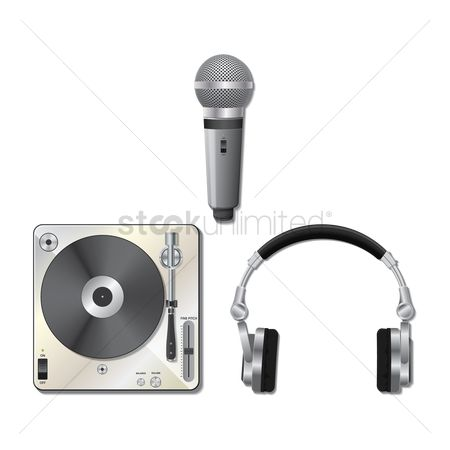 Microphones : Dj equipment set