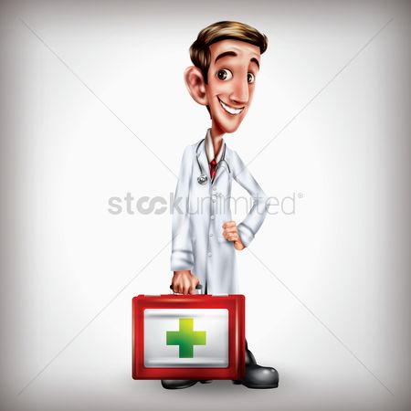 Clinicals : Doctor holding medical kit