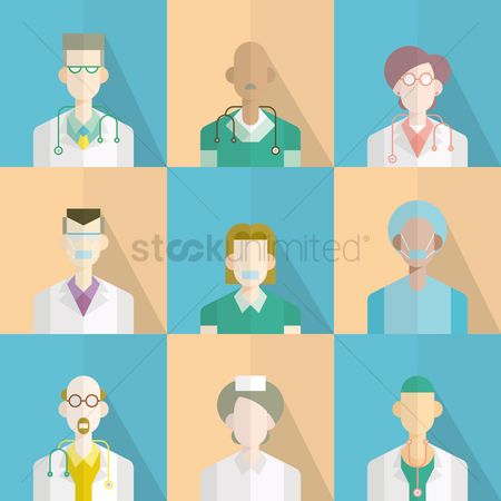 Health cares : Doctor icons