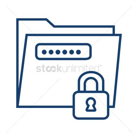 Password : Document security concept