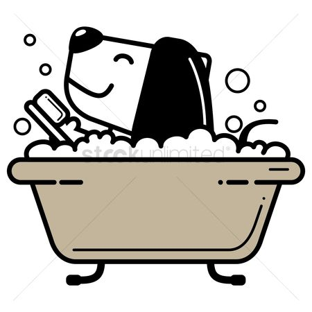 Brushes : Dog taking bath