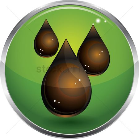 Petroleum : Droplets of crude oil