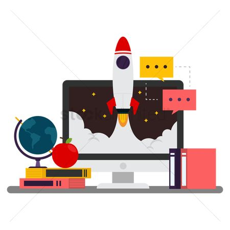 Rocket : E-learning concept