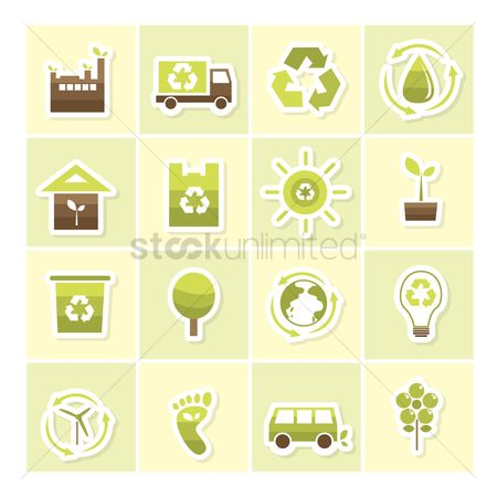 Lorries : Eco friendly icons