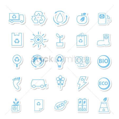 Faucets : Eco friendly icons